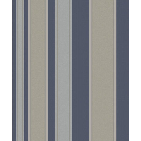 Grandeco Life Wallpaper Boheme Stripe Navy A36403