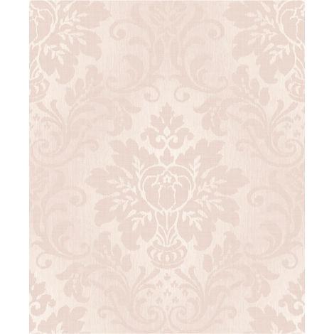 Grandeco Wallpaper Fabric Damask Blush A10906