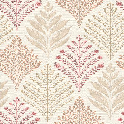 Grandeco Wallpaper Rowan Red A23302