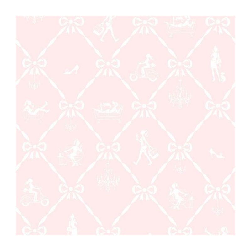 Image of Jack N Rose Junior Wallpaper Pink And White Girly Textured Wallcovering