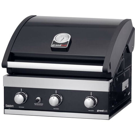 Grandhall - Barbecue encastrable gaz 12.6 kW surface cuisson 60x44cm - Premium GT3