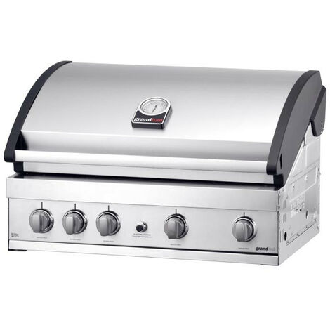 Grandhall - Barbecue encastrable gaz INOX 16.8 kW surface cuisson 80x45cm - ELIT GTI4