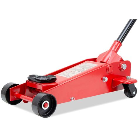 Grandmaster - Hydraulic Trolley Jack 3t (3000Kg), Lifting Range 135mm-500mm, Size 645x345x195mm, Car Jack With Safety Overload Valve, Weight 30kg