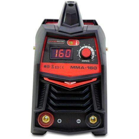 Grandmaster - Soldadora Inverter MMA 160A/220V DC, Pantalla Digital, Tamaño Máximo De Electrodo 3.25mm, Máquina De Soldar Portátil Con Inverter, Soldadora De Arco, Accesorios Incluidos