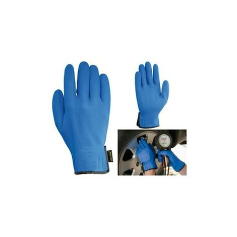 Granel guante 5115/10 azul nitrilo foan
