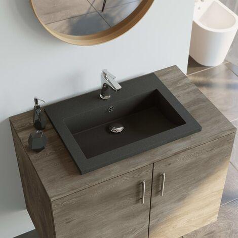 Granite Basin 600x450x120 mm Black