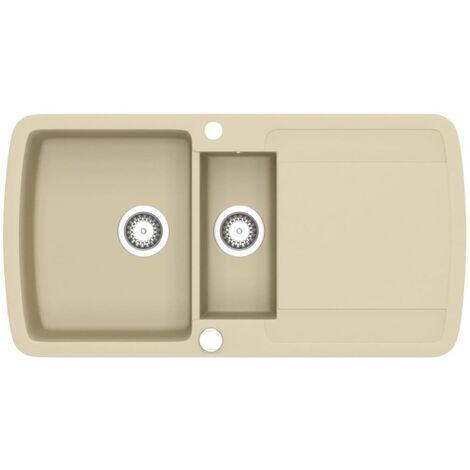 Granite Kitchen Sink Double Basins Beige - Beige