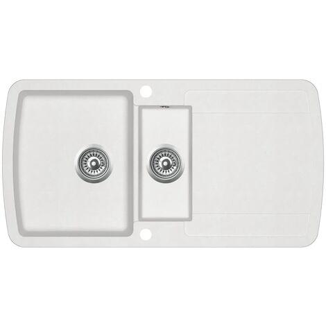 Granite Kitchen Sink Double Basins White