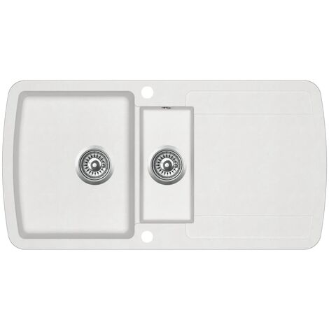 Granite Kitchen Sink Double Basins White