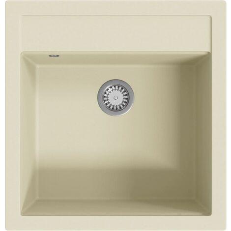 Granite Kitchen Sink Single Basin Beige - Beige