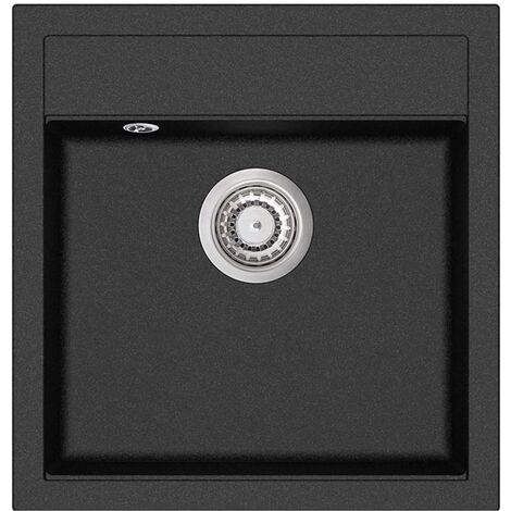 Granite Kitchen Sink Single Basin Black