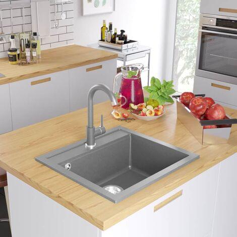 Granite Kitchen Sink Single Basin Grey