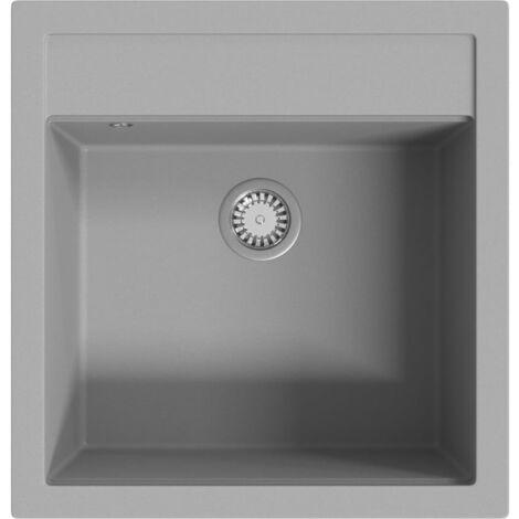 Granite Kitchen Sink Single Basin Grey - Grey