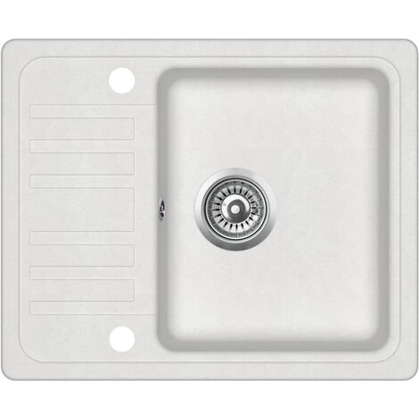 Granite Kitchen Sink Single Basin White