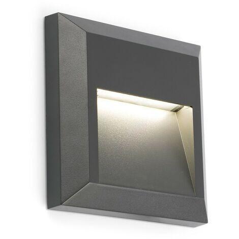 GRANT Aplique de pared exterior - Gris oscuro
