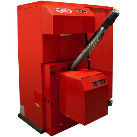 Grant Spira 36 kW Wood Pellet Boiler Biomass Condensing 97% Efficiency C/W 200Kg Right Hand Single Hopper & Feed Auger