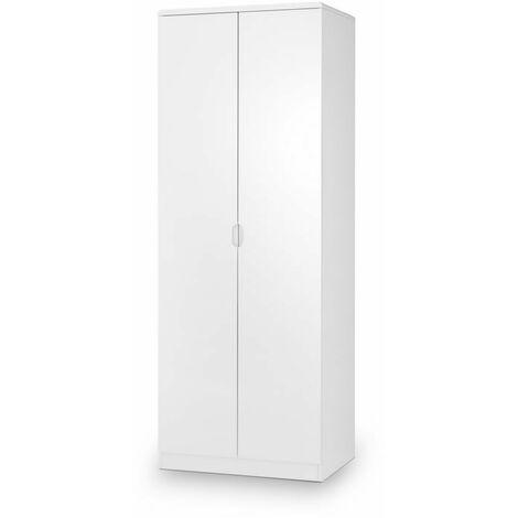 Grant Wardrobe - White Gloss - 2 Doors