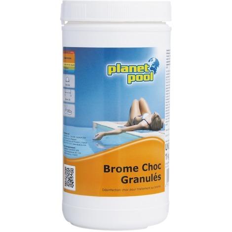 Granulés brome choc Planet Pool - Poids 1 kg - Jaunâtre