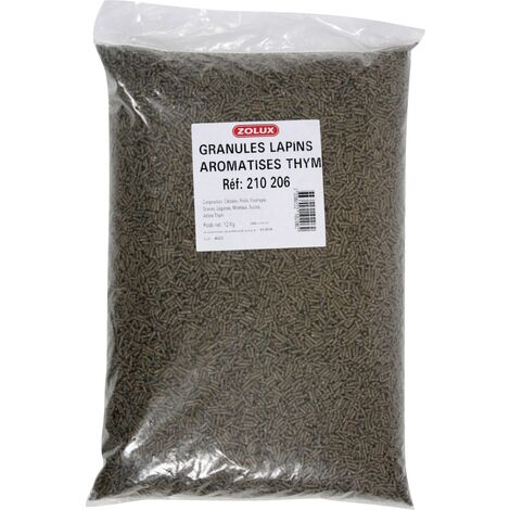 Granulés complets pour lapins et cochons d'inde 12kg