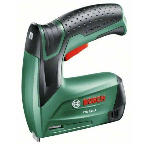 """Bosch 0603968100 Grapadora batería PTK 3,6 LI 3,6V y 1,3Ah Señal luz LED Sistema """"Push + Release"""" + 1000 grapas tipo 53 8mm"""