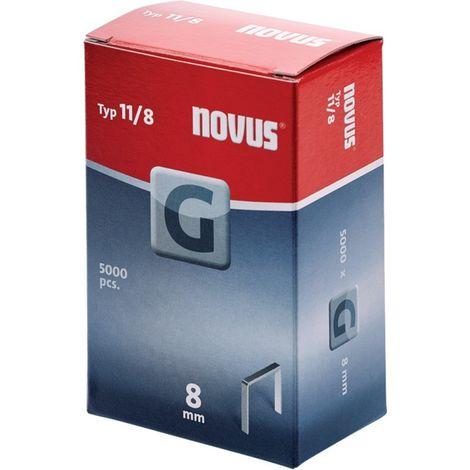 Grapas tipo G a 5000 unidades Nr.11/ 8 vz Novus