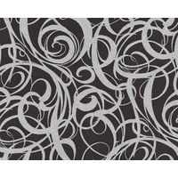 Graphic wallpaper wall EDEM 81136BR29 hot embossed non-woven wallpaper with abstract pattern and metallic highlights anthracite black silver 10.65 m2 (114 ft2)