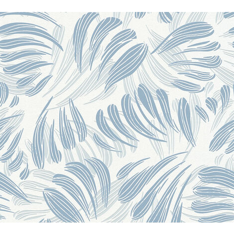 Graphic wallpaper wall Profhome 367032-GU non-woven wallpaper slightly textured matt blue white silver 5.33 m2 (57 ft2)