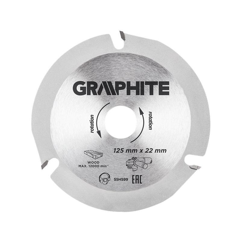 Image of cutting disc blade for wood 125x22.2, grinder disc(Gra 55H599) - Graphite