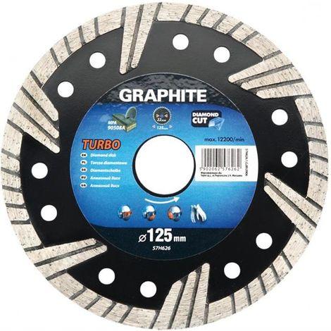 Graphite diamond blade disc 115 mm turbo for concrete floor tiles marble