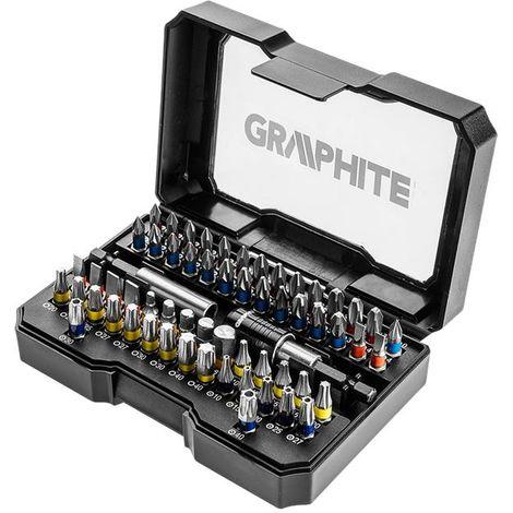 GRAPHITE screwdriver bits set 60 pcs S2 steel, torx, PH, PZ, SL hex (GRA 56H600)