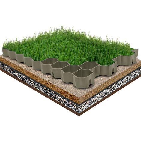 Grass Grids 16 pcs Black 60x40x3 cm Plastic