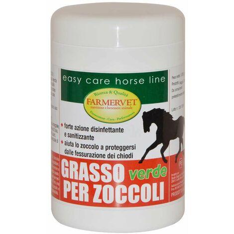 GRASSO PER ZOCCOLI vert avec action hydratante, désinfectante et antibactérienne 1 kg Farmervet