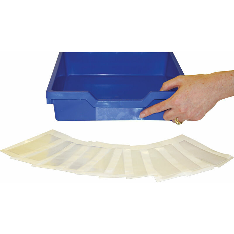 Image of Gratnells Ltd - Gratnells Shallow Education Storage Tray Label Pack of 10