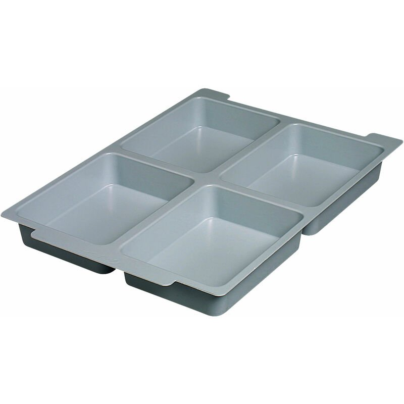 Image of Gratnells Ltd - Gratnells Shallow Tray Insert with 4 Sections