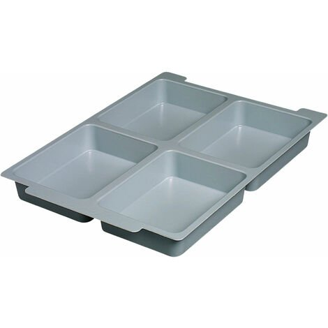Gratnells Shallow Tray Insert with 4 Sections