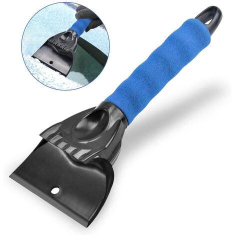 Grattoir à glace pour voitures Pare-brise Vitres arrière et vitres latérales Professionnel Durable et stable Grattoir à glace pratique Outil de pelle à neige Grattoir à glace, bleu