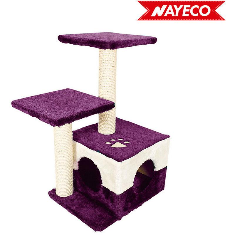 Grattoir savanna noche violet 43x33x68cm - Nayeco