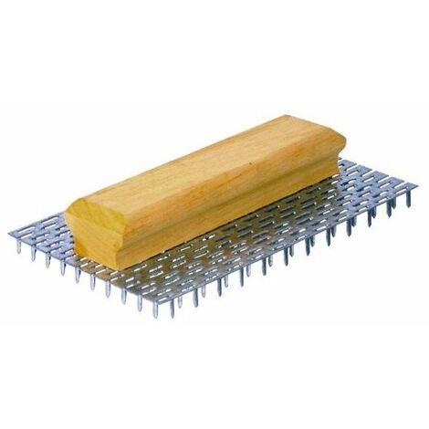 Gratton poignee bois ergonomique 240 pointes l 15 mm - 23.5x 14.5 cm