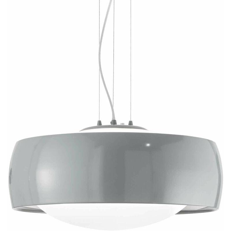 Graue COMFORT Pendelleuchte 1 Glühbirne - 01-IDEAL LUX