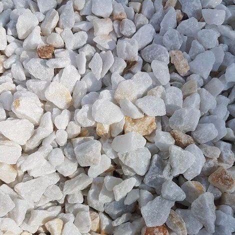 Gravier de marbre concassé Cristal blanc calibre 12-20 sac de 15kg