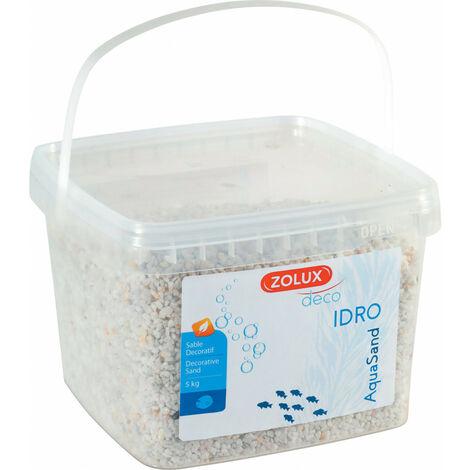 Gravier décoratif. 2-3 mm . blanc. Ashewa aquaSand . 5 kg. pour aquarium.