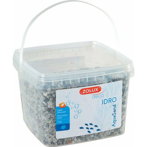 Gravier décoratif. 2-3 mm . gris. Ashewa aquaSand . 5 kg. pour aquarium.