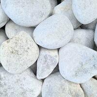 Gravier décoratif Marbre blanc roulé 60-100 mm