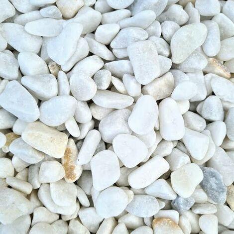 Gravier décoratif Marbre blanc roulé 8-16 mm