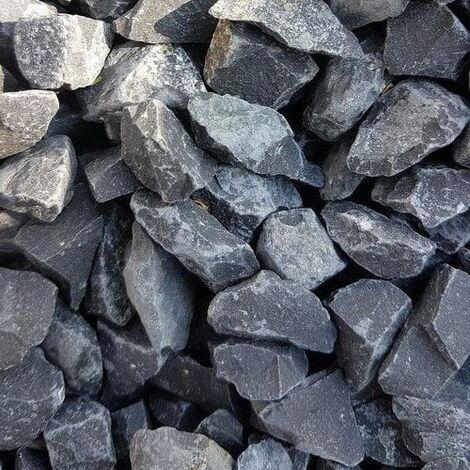 Gravier décoratif Noir basalt concassé 14-20 mm