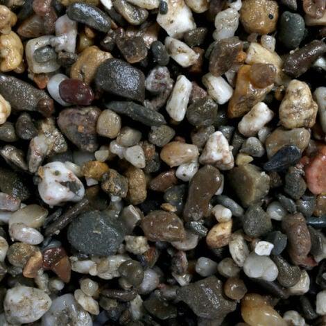 Gravier épais 3-6 mm naturel pour fond d'aquarium Coloris Foncé - Sac 10 kg