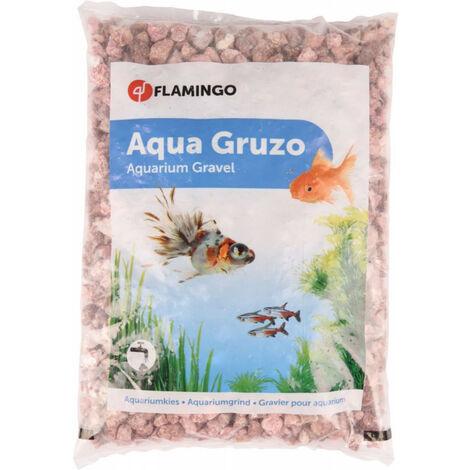 Gravier Gruzo rose 900 gr. pour aquarium.