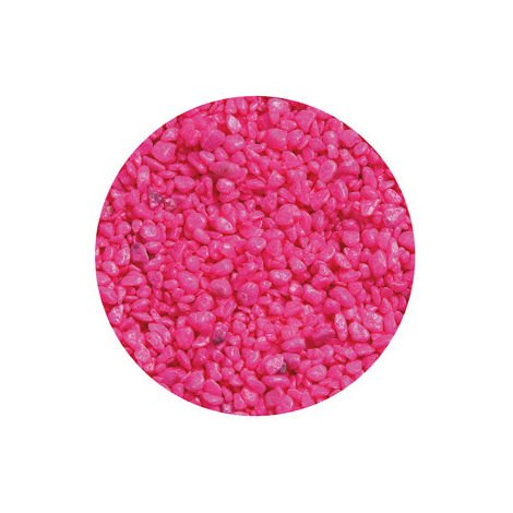 Gravier Neon Rose pour aquarium Flamingo 1 Kg