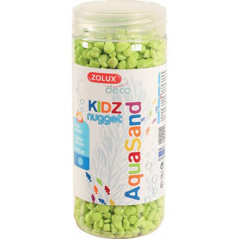 Gravier pour aquariums, vert pomme, 500 ml.