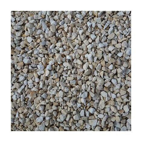 Gravillons calcaire concassé blanc granulométrie 6/10 350 kgs en 10 sacs